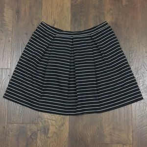 Max Studio box pleat striped skirt